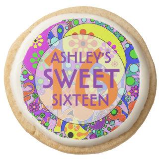 Dulce colorido 16 galletas de la fiesta de