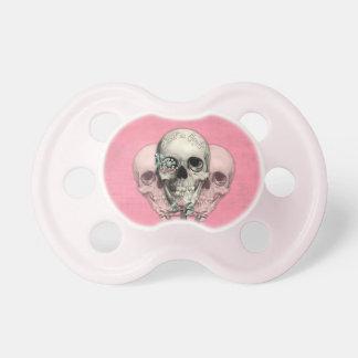 Dulce como cráneos del Lollipop del caramelo en ro Chupete De Bebé