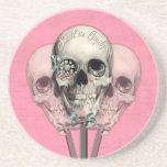 Dulce como cráneos del Lollipop del caramelo en ro Posavasos Personalizados