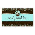 dulce de 311-Turquoise Swirly también Tarjeta De Visita