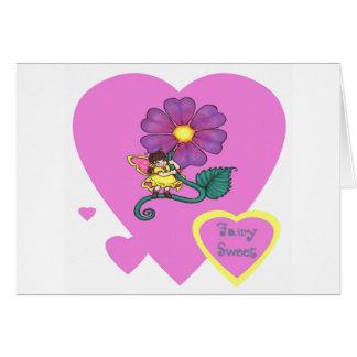 dulce de hadas tarjeta de felicitación