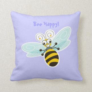 Dulce de Happy_Bee de la abeja del _de la abeja de Cojín