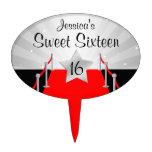 Dulce de Hollywod de la alfombra roja plata de 16  Decoraciones Para Tartas