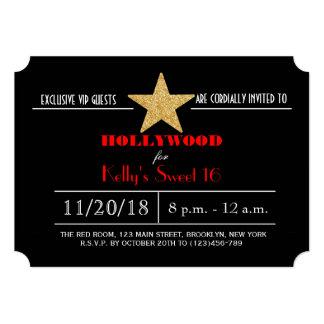Dulce de Hollywood de la alfombra roja invitación