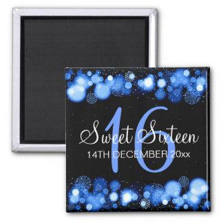 Dulce de invierno 16 luces azules de Bokeh de la Iman