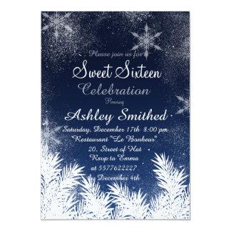 Dulce de invierno elegante del copo de nieve de invitación personalizada