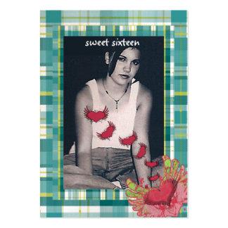 Dulce de la frambuesa de la tela escocesa 16 tarje plantillas de tarjeta de negocio