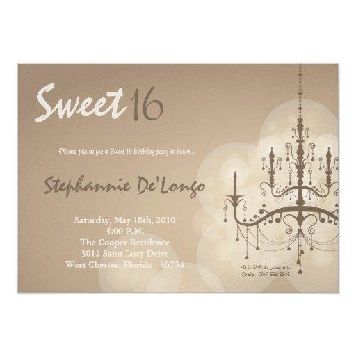 dulce de la lámpara de 5x7 Brown invitación de 16 Invitación 12,7 X 17,8 Cm