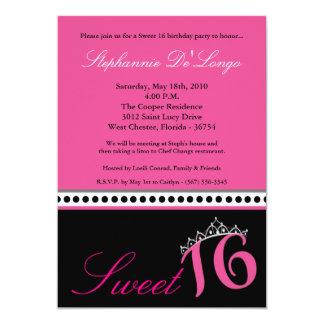"""dulce de la tiara de las rosas fuertes 5x7 invitación 5"""" x 7"""""""
