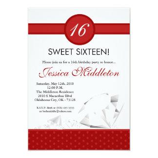dulce de las joyas de los diamantes 5x7 invitación invitación 12,7 x 17,8 cm