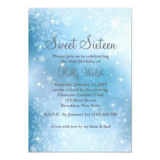 Dulce de los copos de nieve invitación del país de invitación 12,7 x 17,8 cm