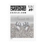Dulce de plata 16 de las lentejuelas, del arco y sello