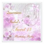 Dulce de Quinceanera invitación de 15 cumpleaños