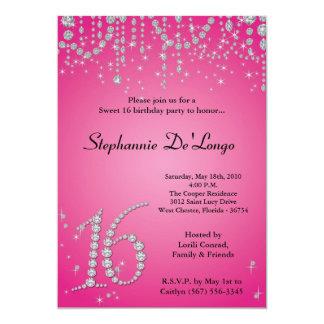"""dulce del diamante de las rosas fuertes 5x7 invitación 5"""" x 7"""""""