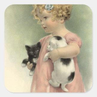 Dulce del perrito del gatito del chica del Victori