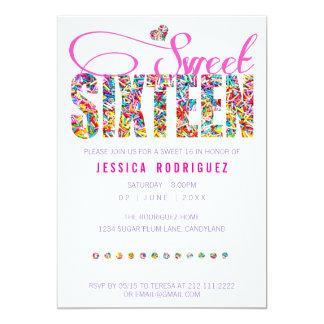 Dulce del tema del caramelo invitación de invitación 12,7 x 17,8 cm