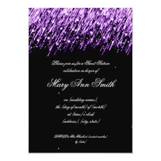 Dulce dieciséis estrellas el caer de la fiesta de invitación 12,7 x 17,8 cm