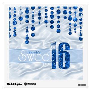 Dulce dieciséis ID260 azul de la joya del satén Vinilo