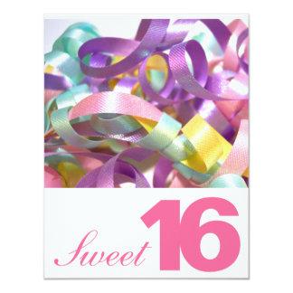 Dulce dieciséis invitaciones de la fiesta de invitaciones personales
