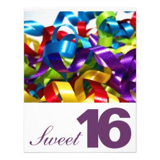 Dulce dieciséis invitaciones de la fiesta de cumpl