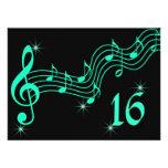 Dulce dieciséis notas de la música de la invitació invitacion personalizada