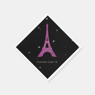 Dulce elegante del tema de París 16 servilletas Servilleta De Papel