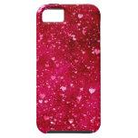 Dulce elegante elegante femenino del corazón del iPhone 5 Case-Mate cárcasa