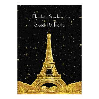 Dulce estrellado 16 V del horizonte 2 Bk de París Invitación Personalizada