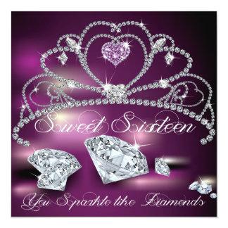 Dulce glamoroso dieciséis de la tiara del diamante anuncio personalizado