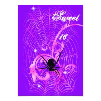 """Dulce gótico 16 de Lolita de las vides de la araña Invitación 5"""" X 7"""""""