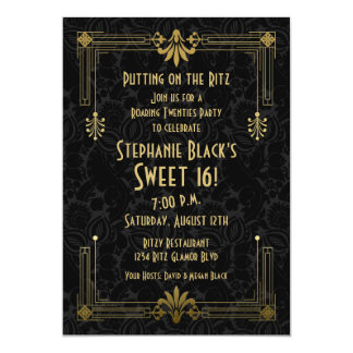 Dulce invitación de 16 cumpleaños que ruge el art invitación 12,7 x 17,8 cm
