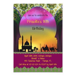 Dulce invitación de dieciséis cumpleaños,