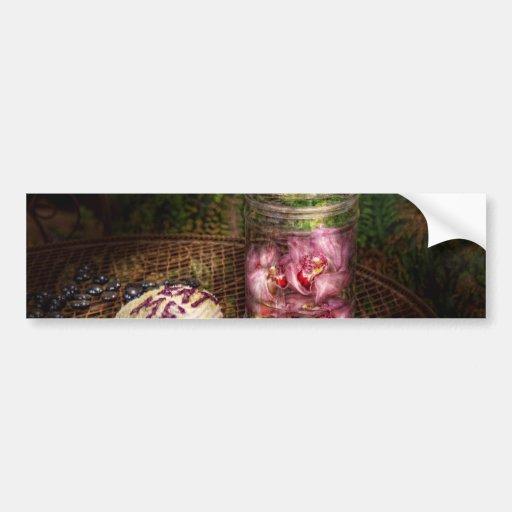Dulce - magdalena - cómame etiqueta de parachoque