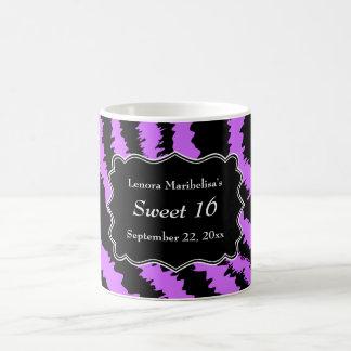 Dulce modelo negro y púrpura de 16 de la cebra tazas de café