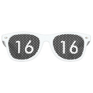 Dulce negro y blanco dieciséis vidrios lentes de fiesta