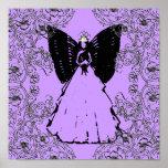 Dulce negro y púrpura angelical sofisticado diecis posters