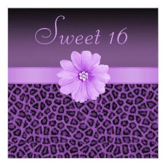 Dulce púrpura 16 del estampado leopardo y de la fl anuncios