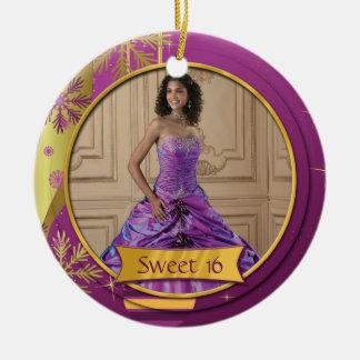Dulce púrpura 16 del oro del ornamento ornamentos para reyes magos