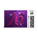 Dulce púrpura y rosado dieciséis sellos del cumple