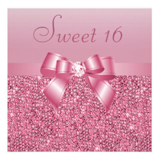 Dulce rosado 16 de las lentejuelas del arco y del anuncios