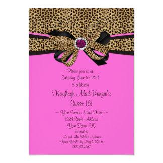 Dulce rosado 16 de los diamantes de las joyas del invitación 12,7 x 17,8 cm