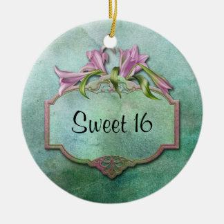 Dulce rosado 16 de los lirios de Ornment Ornamento Para Reyes Magos