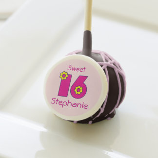 Dulce rosado nombre del personalizado de dieciséis
