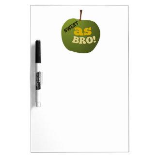 DULCE verde de la manzana COMO BRO Pizarras Blancas