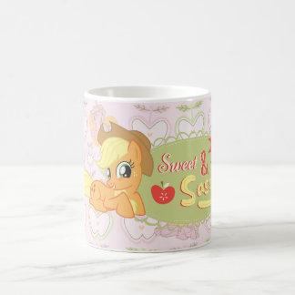 Dulce y descarado taza básica blanca