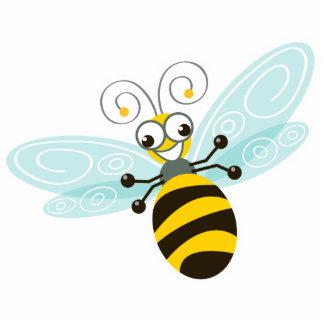 Dulce y diversión del _de la abeja de imán fotoescultura