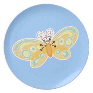 Dulce y diversión del _de Wing-Nutz™_Butterfly Plato De Comida