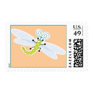 Dulce y diversión del _de Wing-Nutz™_Dragonfly Estampillas