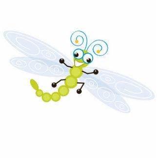 Dulce y diversión del _de Wing-Nutz™_Dragonfly Imán Fotoescultura