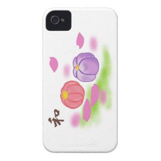 "Dulces ""和 Wa "" de Wagashi iPhone 4 Funda"